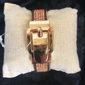 NWOT Buckle Crystal Bracelet.